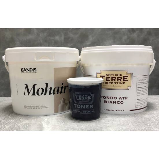Mohair csomag ~12 m² falfelületre többtónusú színezőpasztával
